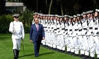 越南政府总理阮春福访问新西兰的正式欢迎仪式举行
