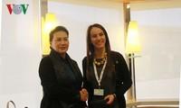 越南国会主席阮氏金银出席各国议会联盟第138届大会期间的活动
