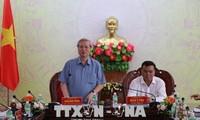 越共中央书记处常务书记陈国旺视察多乐省