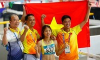 越南田径队在2018年亚运会上首次夺金