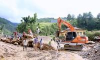 越南各地克服洪水影响