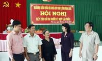 越南各地国会代表团接触选民