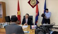 柬埔寨电视台就越共中央总书记、国家主席阮富仲访柬专访越南驻柬大使