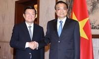 President Truong Tan Sang met Chinese leaders