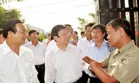 President Truong Tan Sang pays Tet visit to Cu Chi District in Ho Chi Minh City