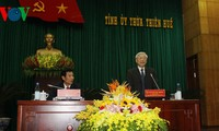 Party leader Nguyen Phu Trong visits Thua Thien Hue province