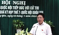 Deputy PM Pham Binh Minh meets voters in Ha Long city, Quang Ninh province