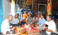 Performance of Khmer traditional musical instruments at Doi pagoda