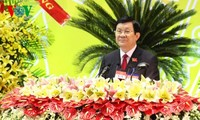 President Truong Tan Sang attends Party Congress in Binh Duong
