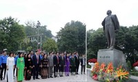 Celebration of the 98th anniversary of Russian October Revolution