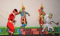 """Ro bam"", a typical dance-drama of the Khmer"