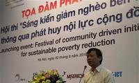 Mobilization of community efforts to ensure sustainable poverty reduction