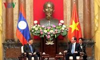 President Tran Dai Quang receives Laos NA Vice Chair