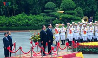 Welcoming ceremony for French President Francois Hollande