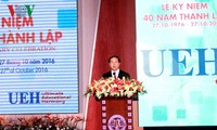 President attends 40th anniversary of HCM City University of Economics