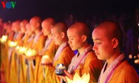 Lantern releasing ceremony for world peace held at UN Day of Vesak
