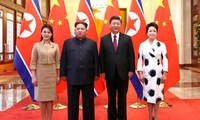 North Korean leader holds talks with Chinese President