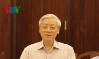 Le SG travaille avec Lai Chau sur la mise en oeuvre des résolutions du Parti