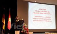Commémoration du 70ème anniversaire de l'armée vietnamienne en Allemagne