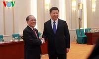 Nguyen Sinh Hung reçu par le président chinois
