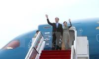 Le président Tran Dai Quang quitte le Brunei pour Singapour