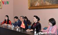 Nguyen Thi Kim Ngan rencontre son homologue iranien