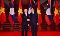 Nguyên Phu Trong rencontre des dirigeants laotiens