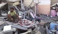 Israel melakukan serentetan serangan udara terhadap jalur Gaza, Palestina.