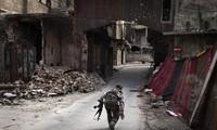 Opini umum internasional memberikan reaksi opini terhadap Perancis dan Inggris dalam mempersenjatai kekuatan oposisi Suriah