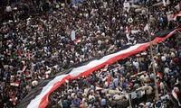 Demonstrasi dan pawai besar-besaran di seluruh Mesir