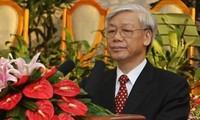Sekjen Nguyen Phu Trong mengirim tilgram ucapan selama kepada Sekjen Partai Rakyat Revolusioner Laos, Bounnhang Volachith