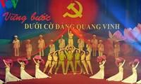 Program kesenian menyambut suksesnya Kongres Nasional ke-12 Partai Komunis Vietnam