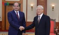 Sekjen Nguyen Phu Trong menerima Presiden Republik Arab Mesir, Abdel Fattah El Sisi