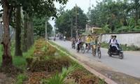 Kecamatan Ta Thanh Oai dengan kesan tentangPresiden Ho Chi Minh menciduk air di pesawahan Quai Chao