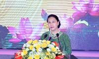 Ketua MN Nguyen Thi Kim Ngan menghadiri upacara peringatan ulang tahun ke-60 kunjungan Presiden Ho Chi Minh di Provinsi Bac Ninh