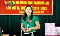 Saudari Luong Thi Hoan, Ketua Asosiasi Perempuan Kecamatan Nghia An yang dinamis