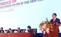 Menyempurnakan institusi dan kebijakan tentang investasi asing pada latar belakang baru