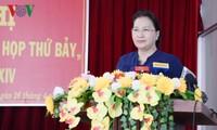 Ketua MN Nguyen Thi Kim Ngan melakukan kontak dengan pemilih di Kabupaten Phong Dien, Kota Can Tho