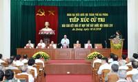 PM Nguyen Xuan Phuc melakukan kontak dengan pemilih Kota Hai Phong