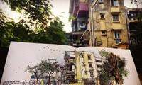 Mencintai Kota Ha Noi melalui gambar-gambar sketsa