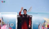 Ketua MN Nguyen Thi Kim Ngan tiba di Kerajaan Thailand