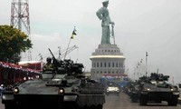 Indonesian Army celebrates 69th anniversary with parade