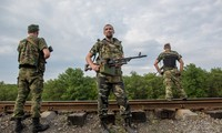 Ukrainian government declares cease-fire while clashes in Donbass go on