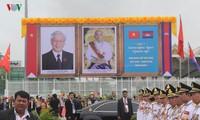 Prensa camboyana resalta el significado especial del viaje de la delegación vietnamita