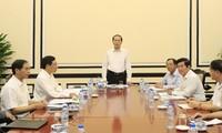 Presidente vietnamita instruye los preparativos del APEC