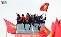 Medios internacionales impresionados ante acto de recepción al equipo sub-23 de Vietnam