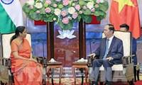 Presidente vietnamita insiste en fortalecer cooperación con la India en defensa