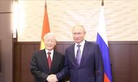 Máximo líder partidista de Vietnam se reúne con el presidente ruso
