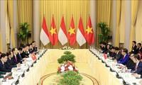 Presidente vietnamita da la bienvenida a su par indonesio
