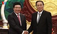 Vietnam y Laos por buenas relaciones de amistad y cooperación
